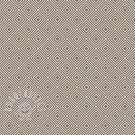 Cotton fabric Square brown