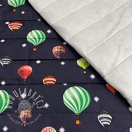 Stepped fabric Air balloon dark blue
