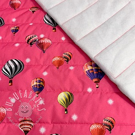 Stepped fabric Air balloon fuchsia