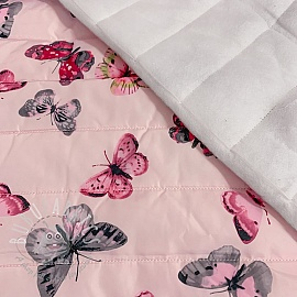 Stepped fabric Butterfly light pink