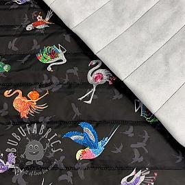Stepped fabric Diamond animals