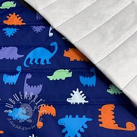Stepped fabric Dino blue