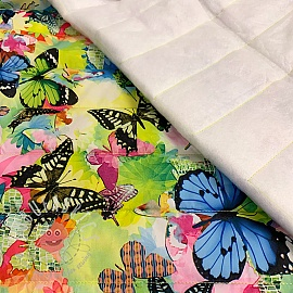 Stepped fabric Lovely Butterfly lime