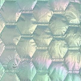 Stepped fabric Stepped hexagon light blue