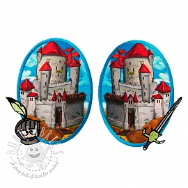Sticker BASIC Castle 2 pc PATCH
