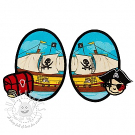 Sticker BASIC Pirat Boat 2 pc PATCH