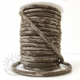 Suede cord Glitter taupe