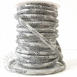 Suede cord Glitter white