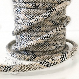 Suede cord Snake cream