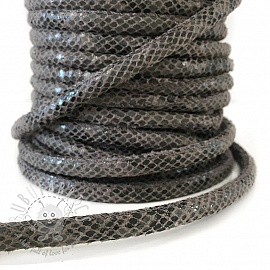 Suede cord Snake grey