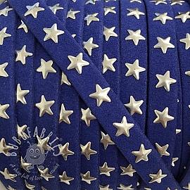 Suede cord Stars kobalt
