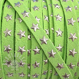 Suede cord Stars lime