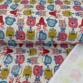 Sweat alpenfleece Animals pink