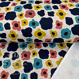 Sweat alpenfleece Flowery blue