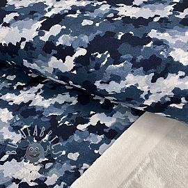 Sweat fabric Army power navy digital print