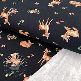 Sweat fabric Baby deer black digital print