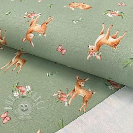 Sweat fabric Baby deer sage digital print