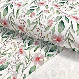 Sweat fabric Flowie white digital print
