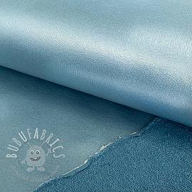 Sweat fabric FOIL light blue
