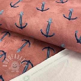 Sweat fabric GOTS Anchor blush digital print