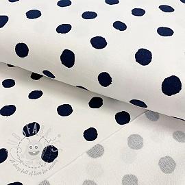 Sweat fabric GOTS Dots off white