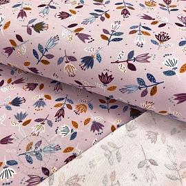 Sweat fabric GOTS Flowers light lilac