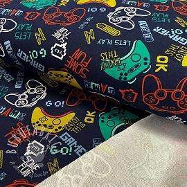 Sweat fabric GOTS Game navy