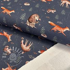 Sweat fabric GOTS Wild life jeans digital print