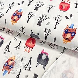 Sweat fabric HEAVY Animals in winter digital print