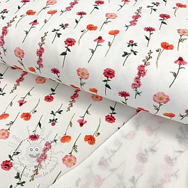 Sweat fabric HEAVY Fall poppy digital print
