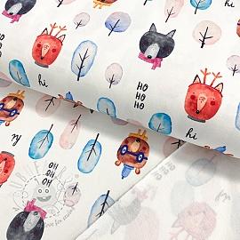 Sweat fabric HEAVY Hello winter digital print