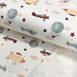 Sweat fabric HEAVY Zeppelin digital print