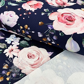 Sweat fabric Royalty rose digital print