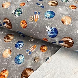 Sweat fabric Space rock grey digital print