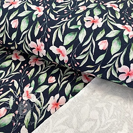 Sweat fabric Flowie navy digital print