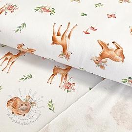 Sweat fabric Baby deer white digital print
