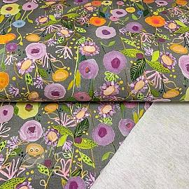 Sweat Floral Garden grey digital print