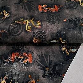 Sweat How to train your dragon black digital print