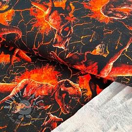 Sweat Jurassic world Attack orange digital print