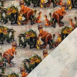 Sweat Toy dinosaurus brown digital print