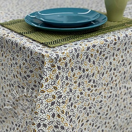 Tablecloth Fabric PVC ALIZE jaune gris