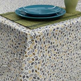Tablecloth Fabric PVC ALIZE jaune gris
