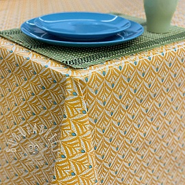 Tablecloth Fabric PVC BAKER curcuma
