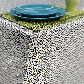 Tablecloth Fabric PVC BAKER graphite