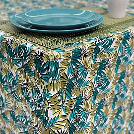 Tablecloth Fabric PVC CURACAO vert