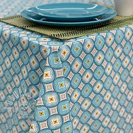 Tablecloth Fabric PVC IBIZA celadon