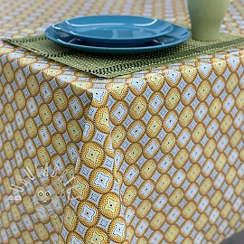 Tablecloth Fabric PVC IBIZA curry
