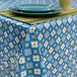 Tablecloth Fabric PVC IBIZA turquoise