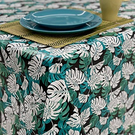 Tablecloth Fabric PVC MANGROVE emeraude