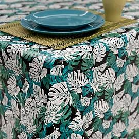 Tablecloth Fabric PVC MANGROVE emeraude